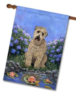 Wheaten Terrier's Pad- House Flag - 28'' x 40''