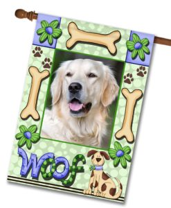 "Woof - Photo House Flag 28""x40"""
