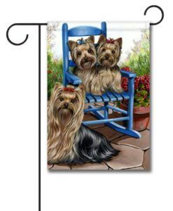 Yorkshire Terrier Sweethearts - Garden Flag - 12.5'' x 18''