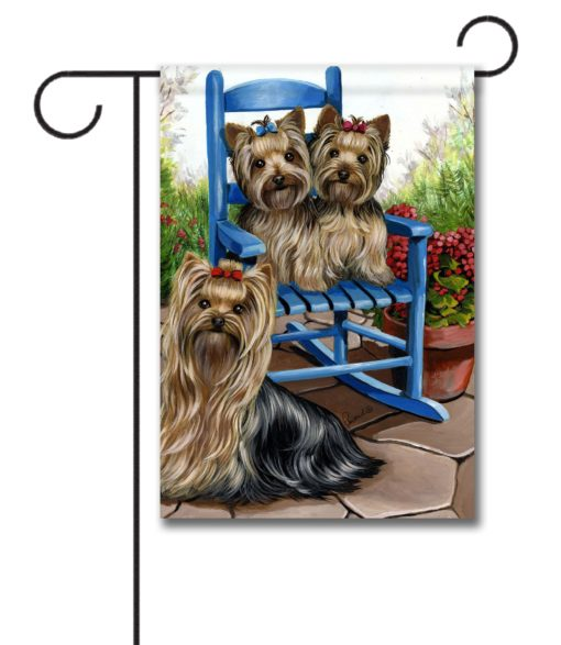 Yorkshire Terrier Sweethearts - Garden Flag - 12.5'' x 18''