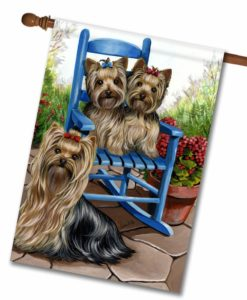 Yorkshire Terrier Sweethearts - House Flag - 28'' x 40''