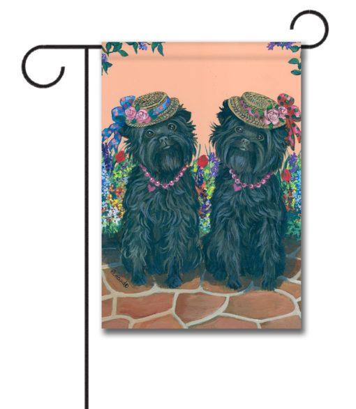 Affenpinscher Sisters - Garden Flag - 12.5'' x 18''