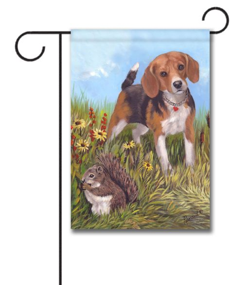 Beagle The Hunter - Garden Flag - 12.5'' x 18''