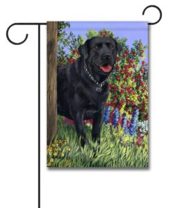 Black Labrador Retriever My Special Place - Garden Flag - 12.5'' x 18''