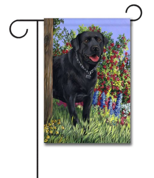 Black Labrador Retriever My Special Place - Garden Flag - 12.5'' x 18''