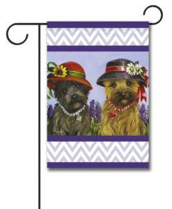 Cairn Terrier Sisters - Garden Flag - 12.5'' x 18''