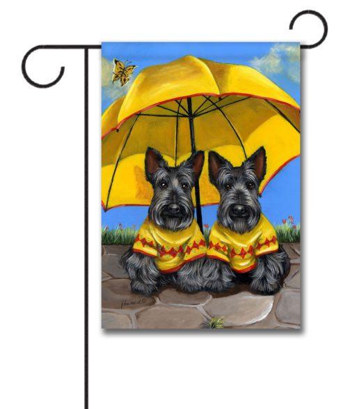 Scottish Terrier Sunshine - Garden Flag - 12.5'' x 18''