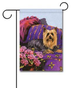 Silky Terrier Luxurious Silk - Garden Flag - 12.5'' x 18''