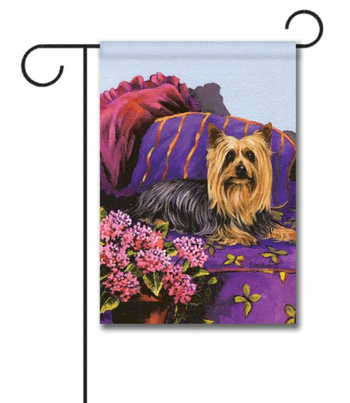 Silky Terrier Luxurious Silk - Garden Flag - 12.5'' x 18''