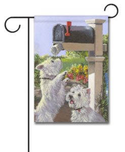 West Highland Terrier We Got Mail - Garden Flag - 12.5'' x 18''