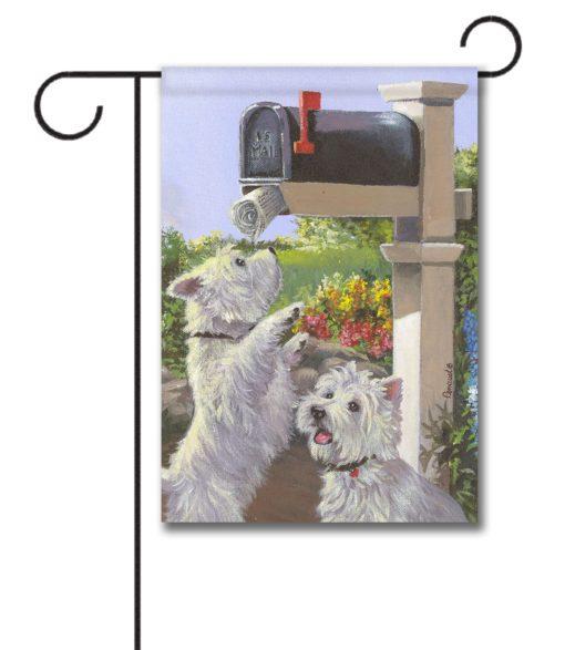 West Highland Terrier We Got Mail - Garden Flag - 12.5'' x 18''