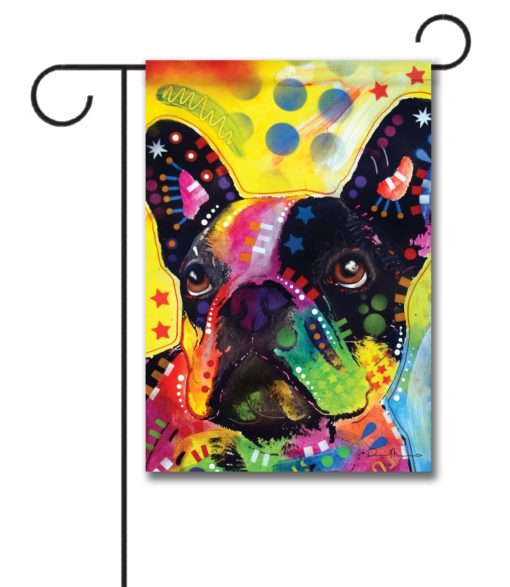 Abstract French Bulldog - Garden Flag - 12.5'' x 18''