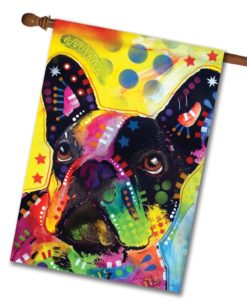Abstract French Bulldog - House Flag - 28'' x 40''