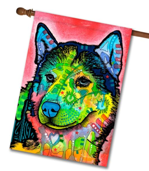 Abstract Husky - House Flag - 28'' x 40''