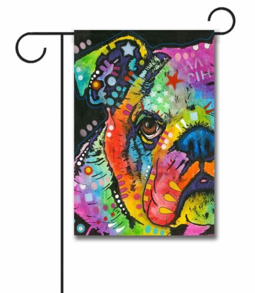 What You Lookin' At Bulldog - Garden Flag - 12.5'' x 18''