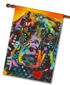 Brilliant Dachshund - House Flag - 28'' x 40''