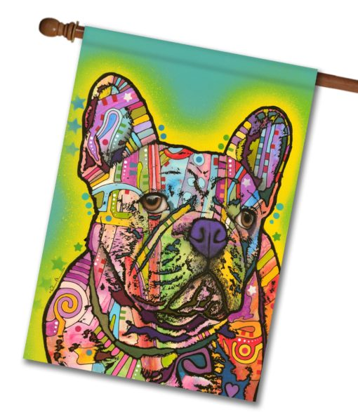 Frenchie - House Flag - 28'' x 40''