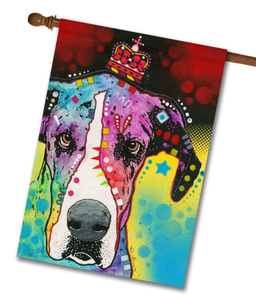 Crowned Great Dane - House Flag - 28'' x 40''