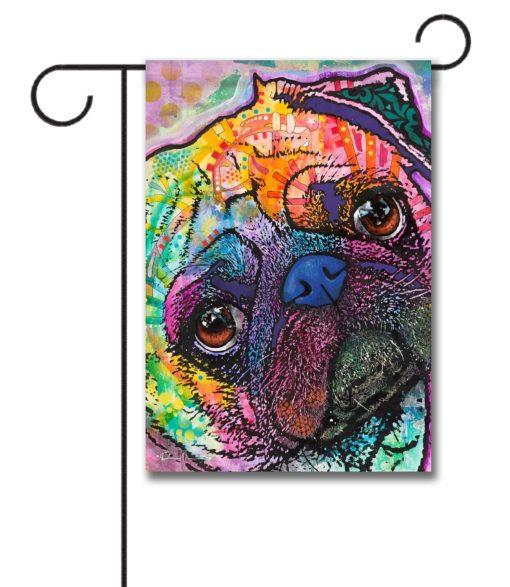 Pretty as a Pug - Garden Flag - 12.5'' x 18''