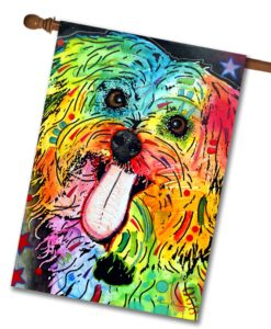 Abstract Shih Tzu - House Flag - 28'' x 40''