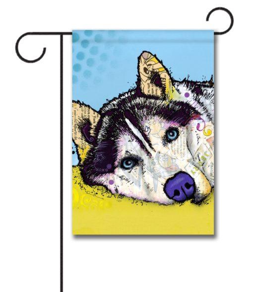 Hello Husky - Garden Flag - 12.5'' x 18''