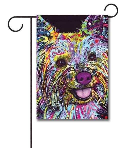 Abstract Yorkie - Garden Flag - 12.5'' x 18''