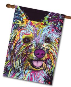 Abstract Yorkie - House Flag - 28'' x 40''