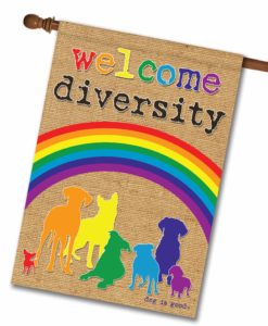 Welcome Diversity Rainbow - House Flag - 28'' x 40''
