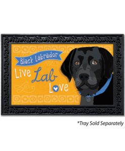 Black Labrador Doormat