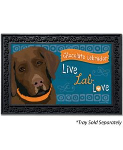 Chocolate Labrador Doormat