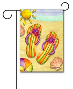 Sun Sand & Flip Flops - Garden Flag - 12.5'' x 18''