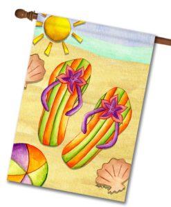 Sun Sand & Flip Flops - House Flag - 28'' x 40''