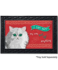 I Can Purr Persian Cat Doormat