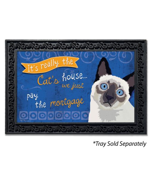 Siamese Cat House Doormat