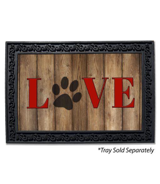 Love Paw Print Doormat