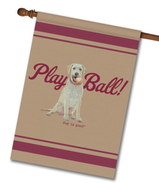 Play Ball - House Flag - 28'' x 40''