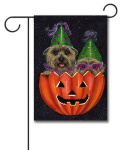 Cairn Terrier Peek-a-boo - Garden Flag - 12.5'' x 18''