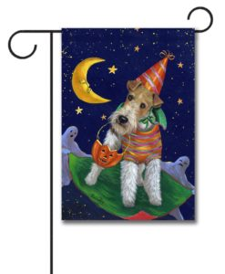 Fox Terrier Treat or Trick - Garden Flag - 12.5'' x 18''
