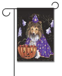 Shetland Sheepdog Halloween - Garden Flag - 12.5'' x 18''