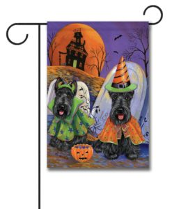 Scottish Terrier Haunted House - Garden Flag - 12.5'' x 18''