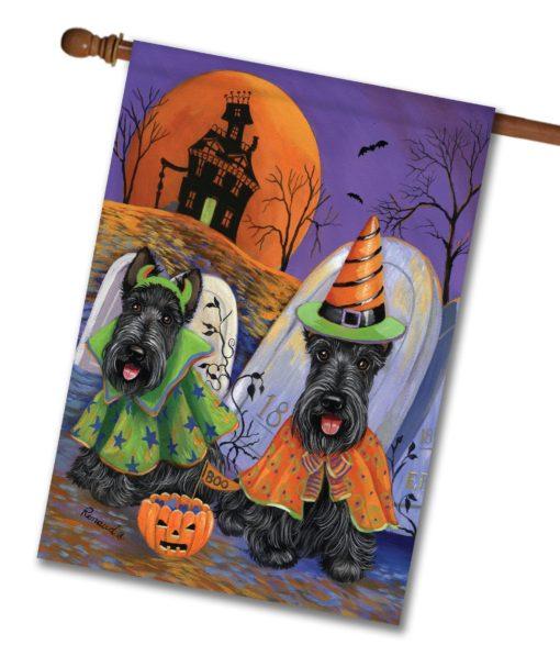Scottish Terrier Haunted House - House Flag - 28'' x 40''