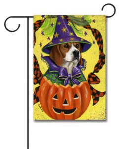 Beagle Halloweenie - Garden Flag - 12.5'' x 18''