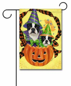 Boston Terrier Halloweenies - Garden Flag - 12.5'' x 18''