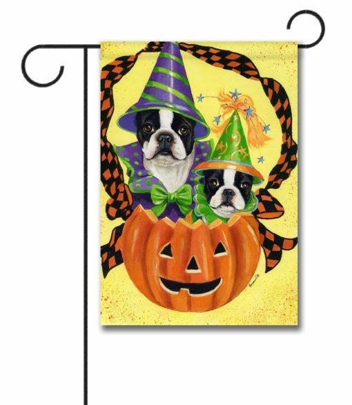 Boston Terrier Halloweenies - Garden Flag - 12.5'' x 18''