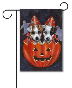 Jack Russell Halloweenies - Garden Flag - 12.5'' x 18''