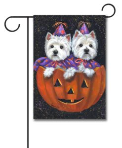 West Highland Terrier Halloween - Garden Flag - 12.5'' x 18''