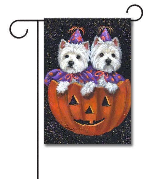 West Highland Terrier Halloween - Garden Flag - 12.5'' x 18''