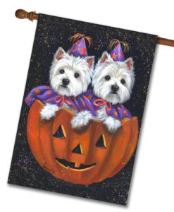 West Highland Terrier Halloween - House Flag - 28'' x 40''