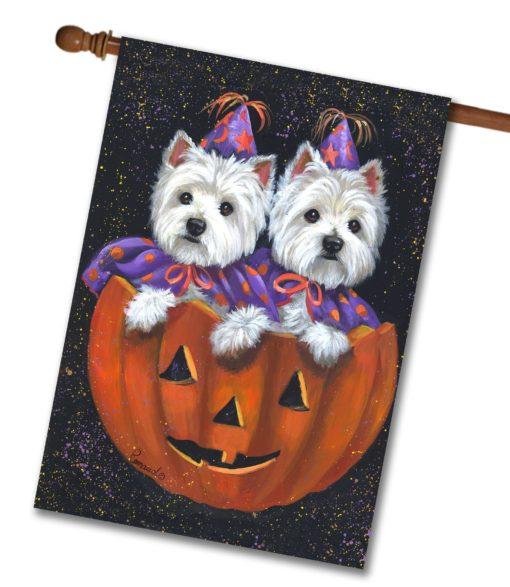 West Highland Terrier Halloween - House Flag - 28'' x 40''
