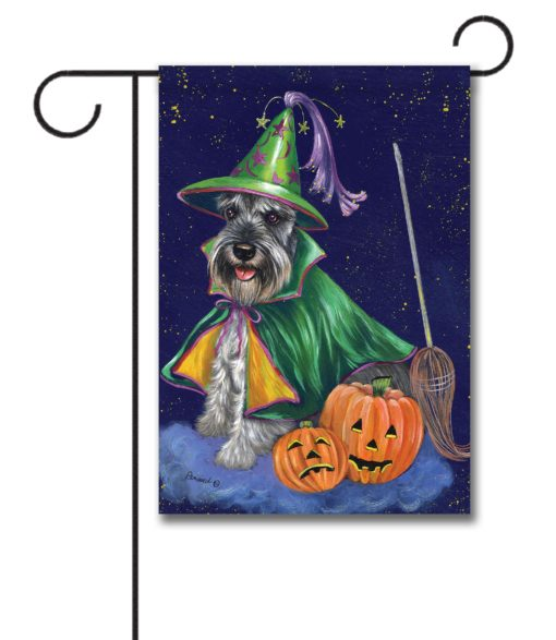 Schnauzer Good Witch - Garden Flag - 12.5'' x 18''